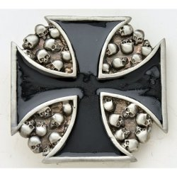 BK-604 Iron Cross with skulls design.