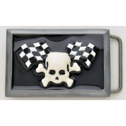 BK-202SKCK Skull and cross bones checker racing flags design.