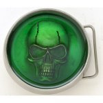 BK-731-Green Skull in green resin