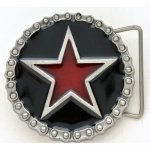 BK-303CHR Red star with motorcycle chain